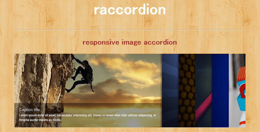 raccordion slider