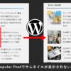 WordPress Popular Postでサムネイル画像が表示されない不具合が起きた時の対処法を紹介
